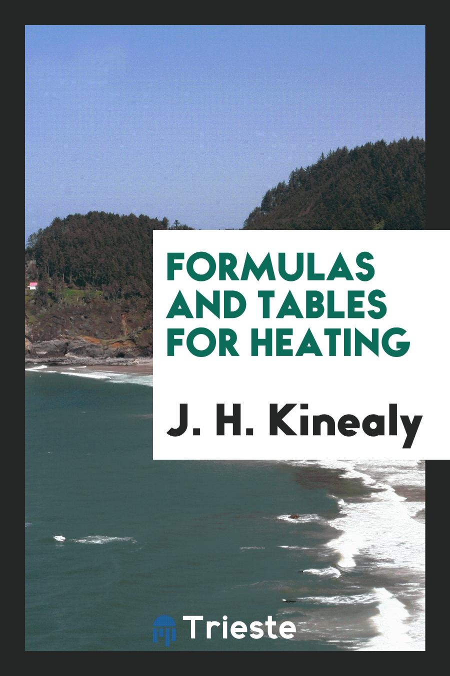 Formulas and Tables for Heating