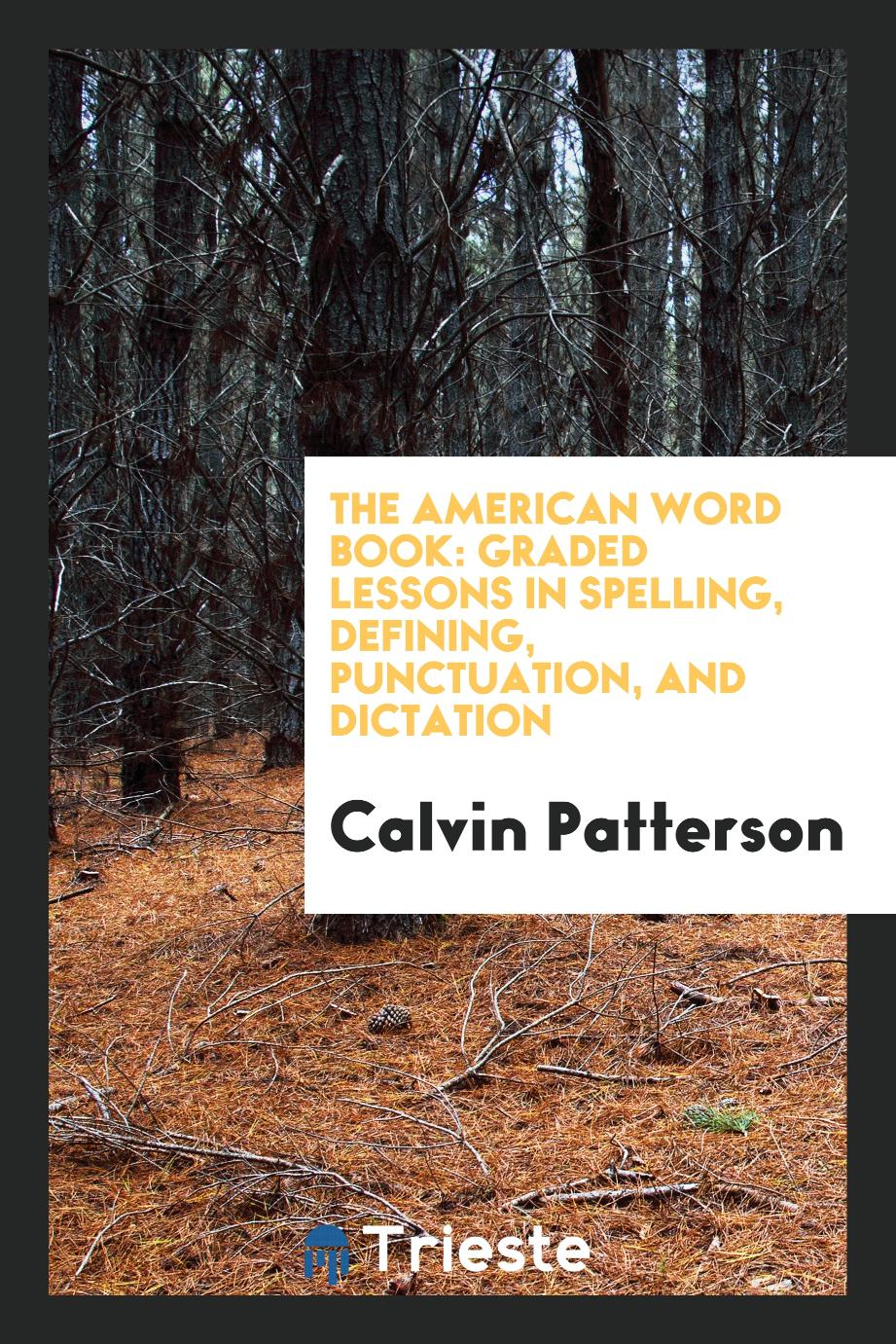 The American Word Book: Graded Lessons in Spelling, Defining, Punctuation, and Dictation