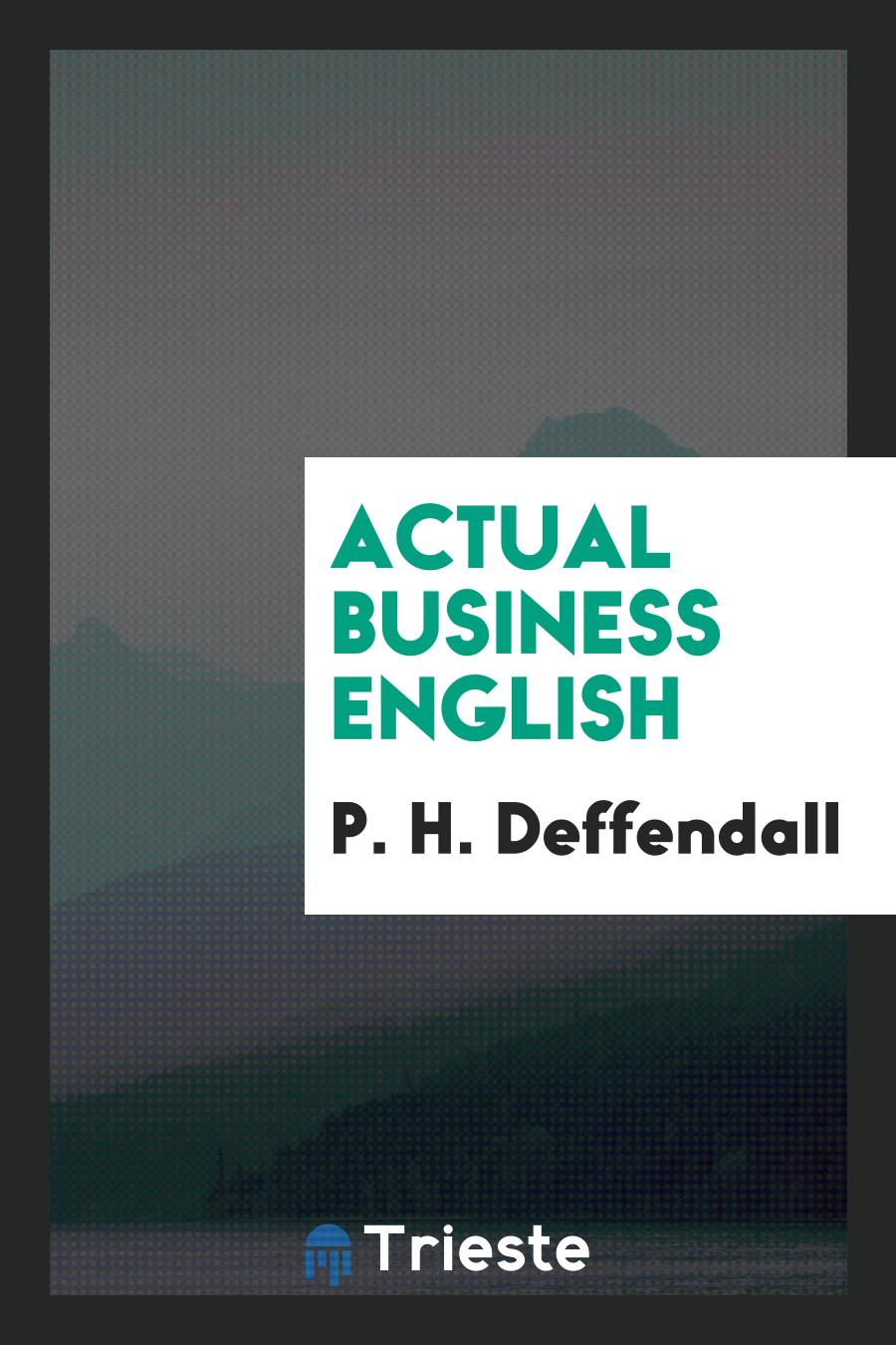 Actual Business English