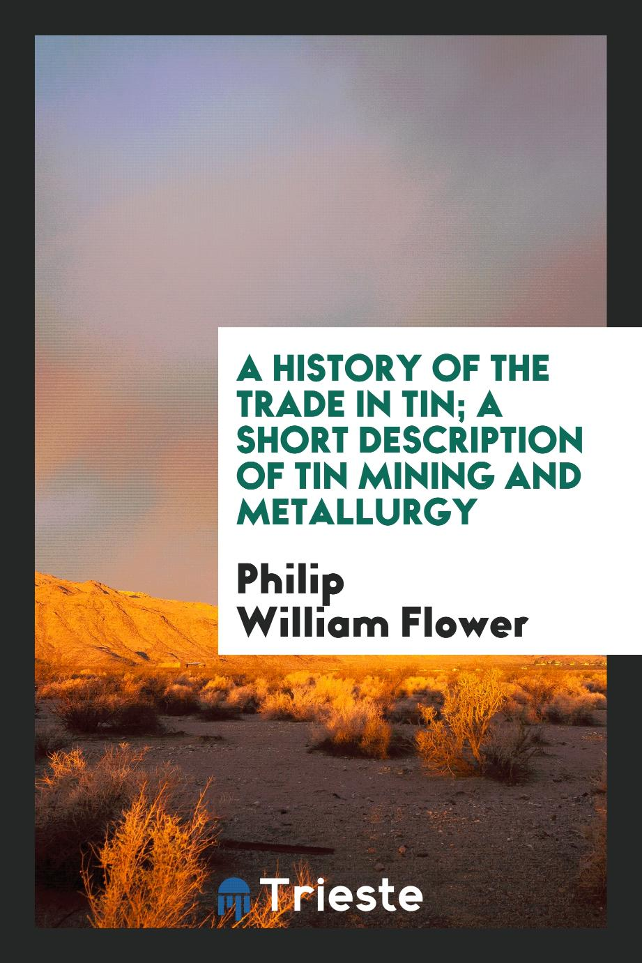 A History of the Trade in Tin; A Short Description of Tin Mining and Metallurgy