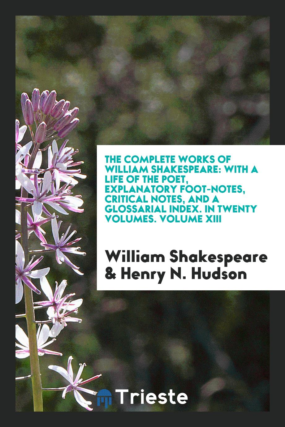 The complete works of William Shakespeare: with a life of the poet, explanatory foot-notes, critical notes, and a glossarial index. In twenty volumes. Volume XIII