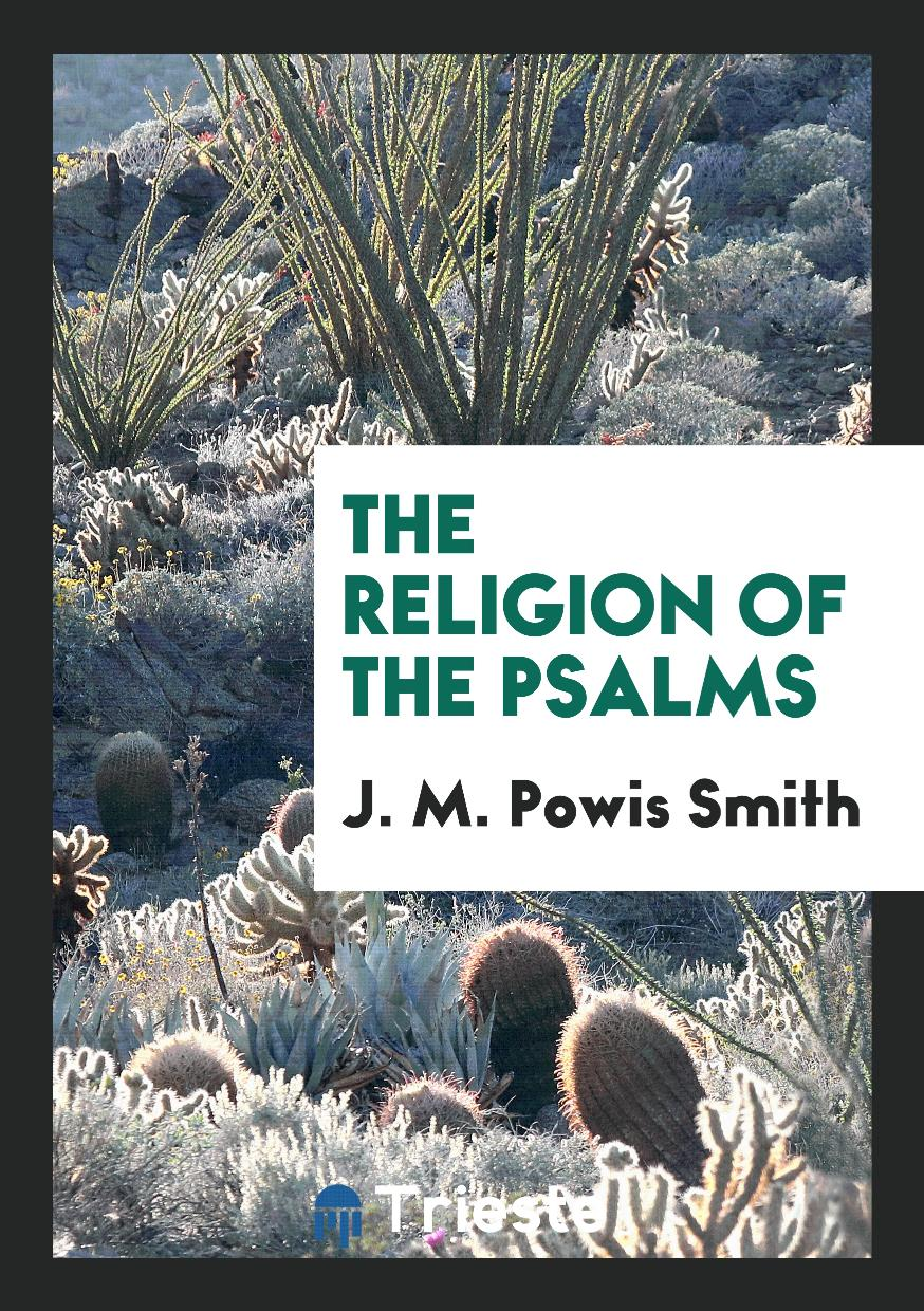 The Religion of the Psalms
