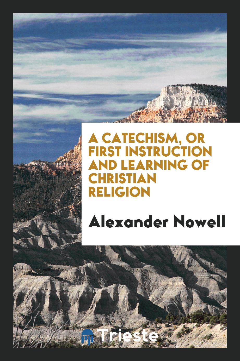 A Catechism, or First Instruction and Learning of Christian Religion