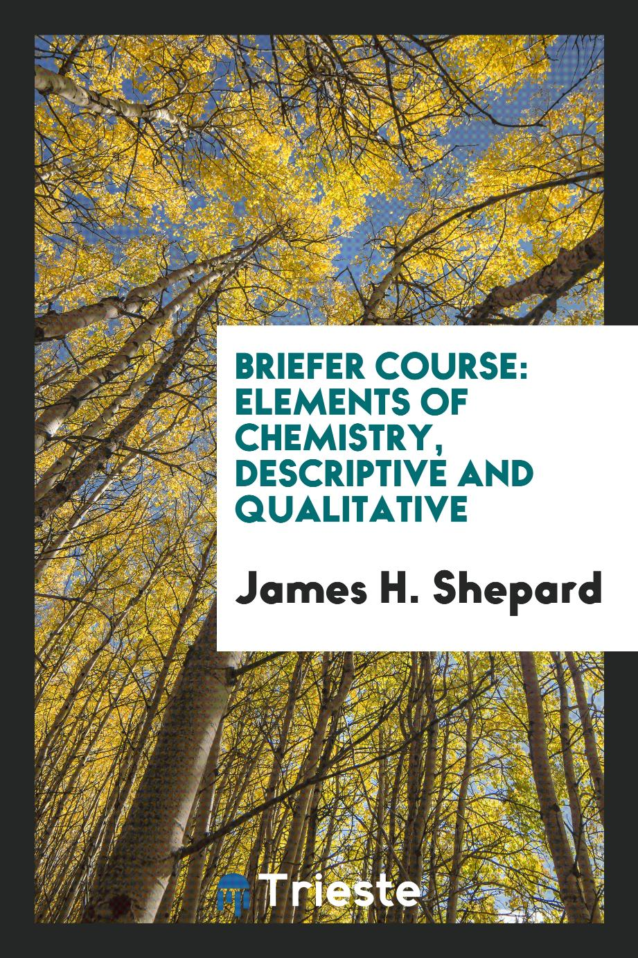 Briefer Course: Elements of Chemistry, Descriptive and Qualitative