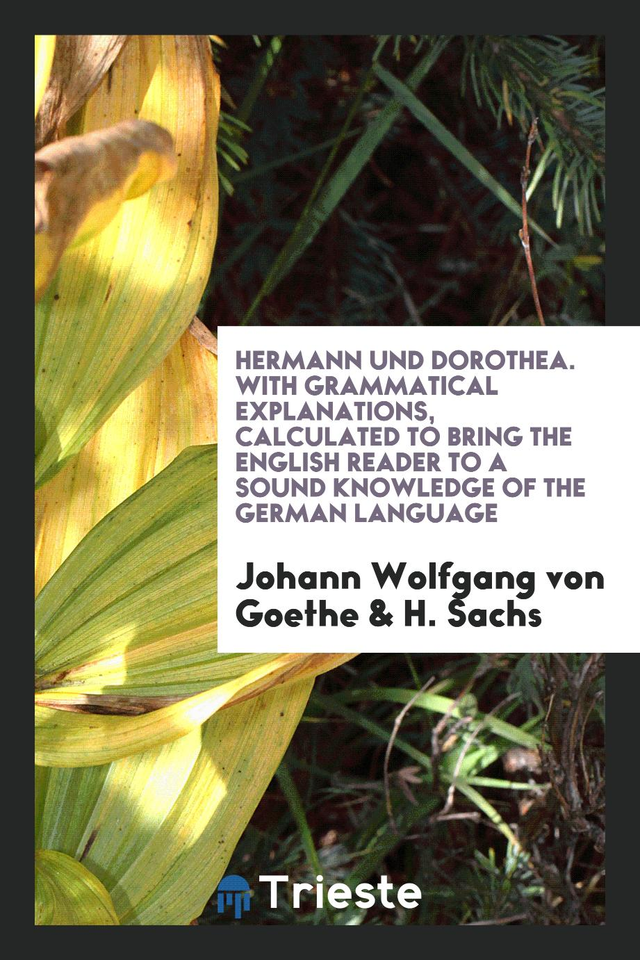Hermann und Dorothea. With Grammatical Explanations, Calculated to Bring the English Reader to a Sound Knowledge of the German Language