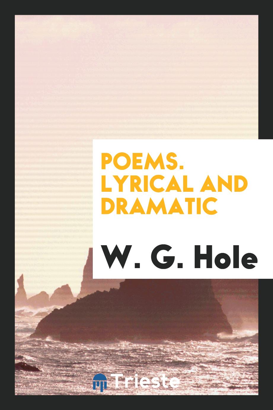 Poems. Lyrical and Dramatic