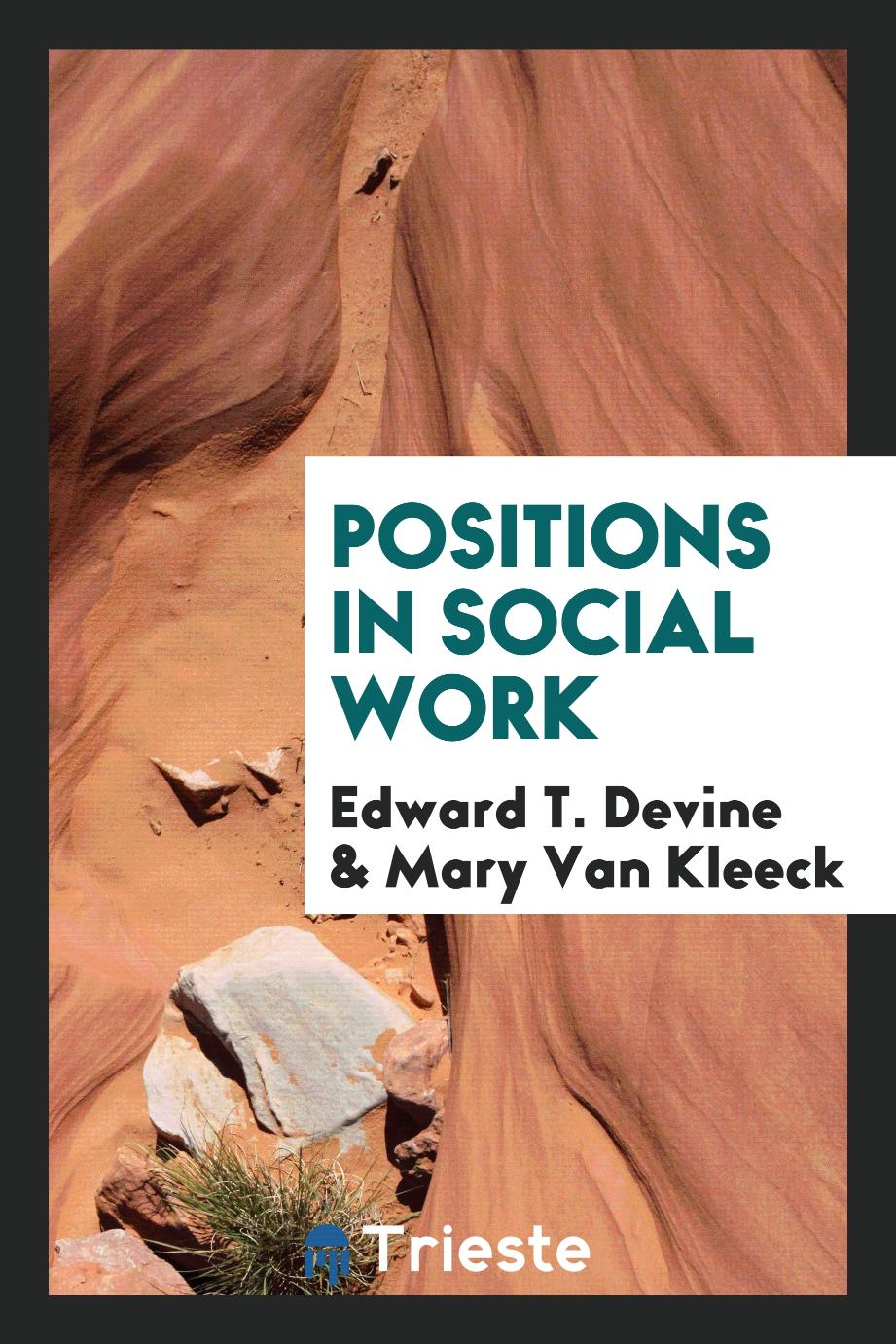 Positions in social work