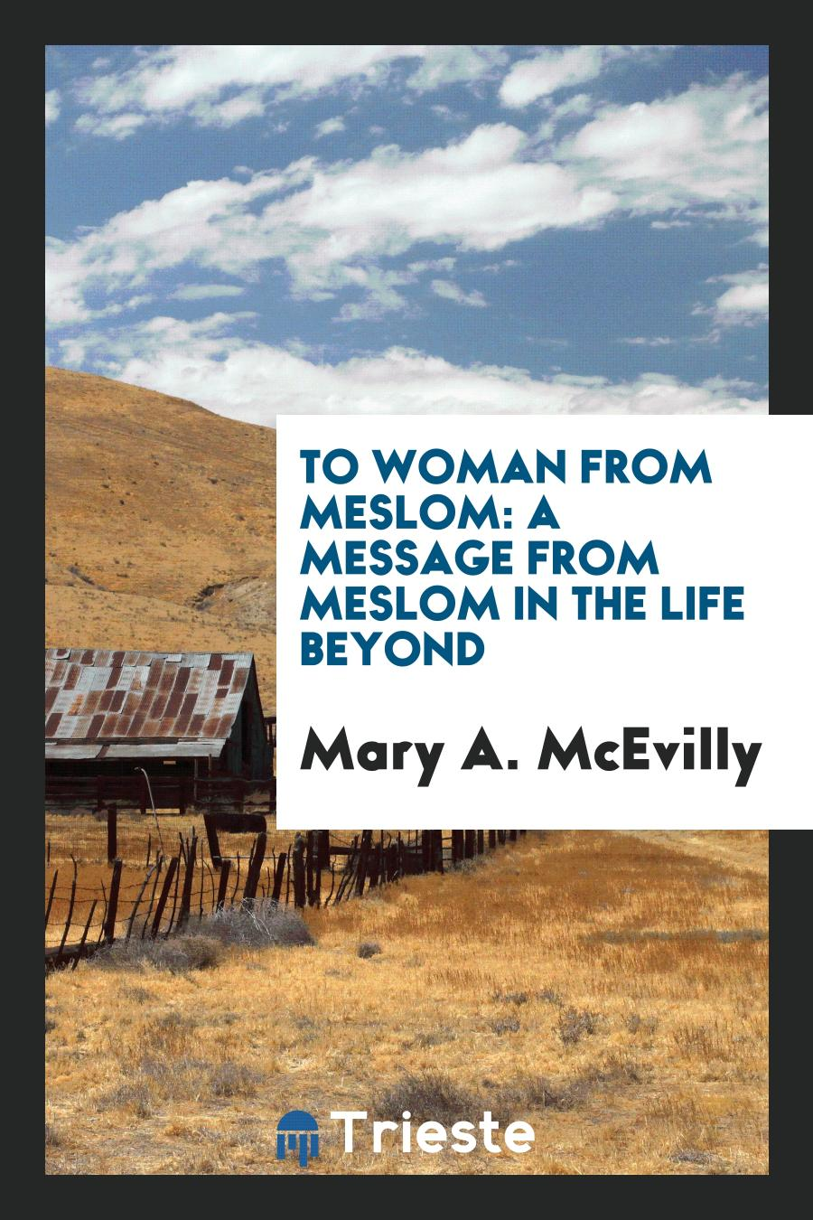 Mary A. McEvilly - To Woman from Meslom: A Message from Meslom in the Life Beyond