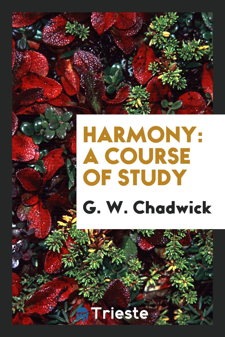 Harmony: A Course of Study