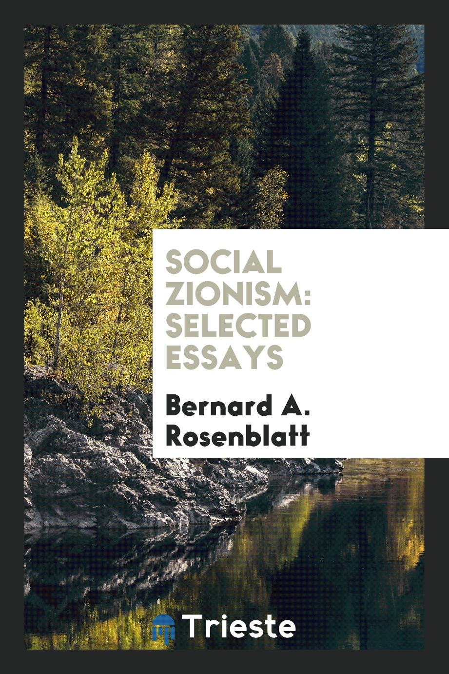 Social Zionism: Selected Essays