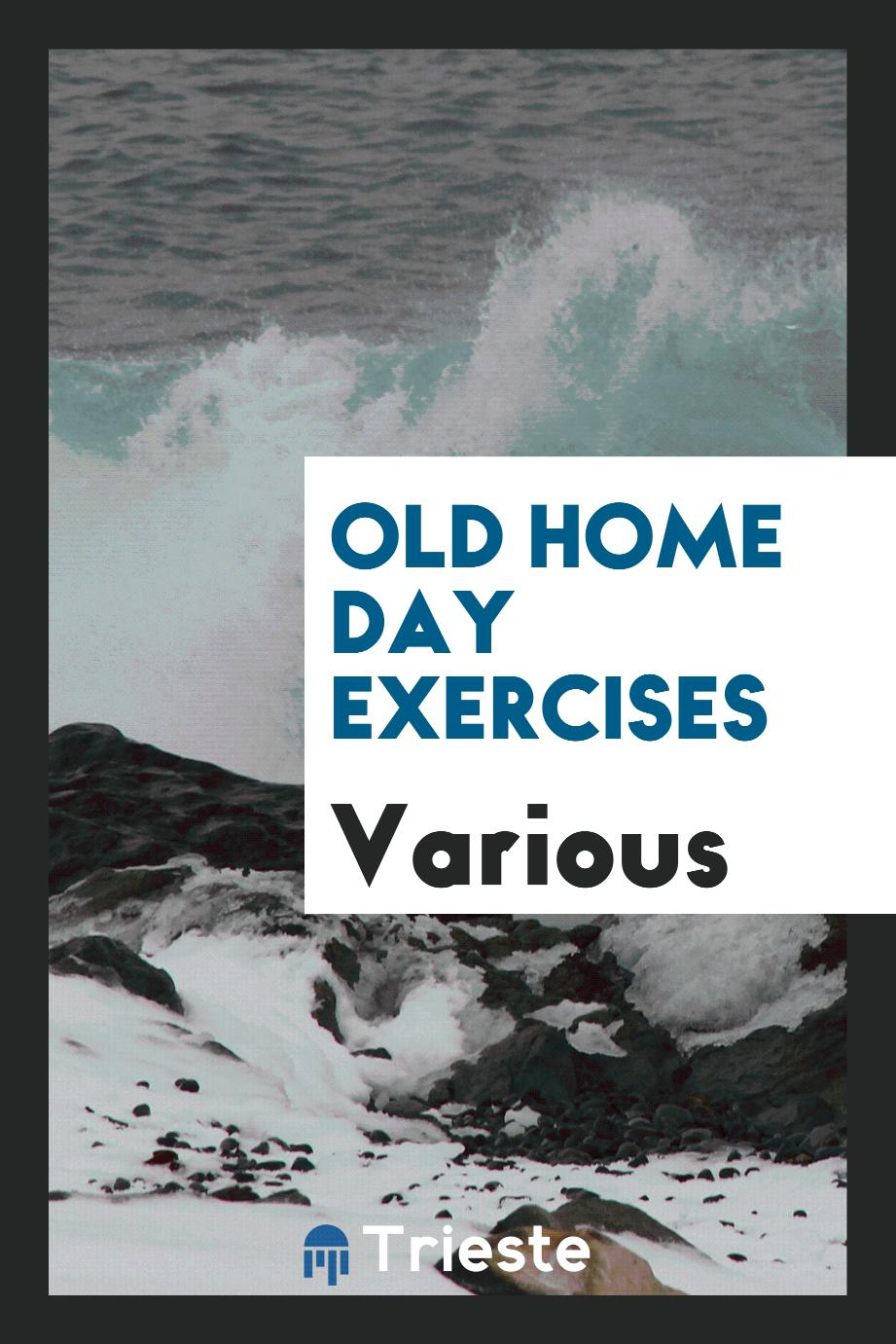 Old Home Day Exercises
