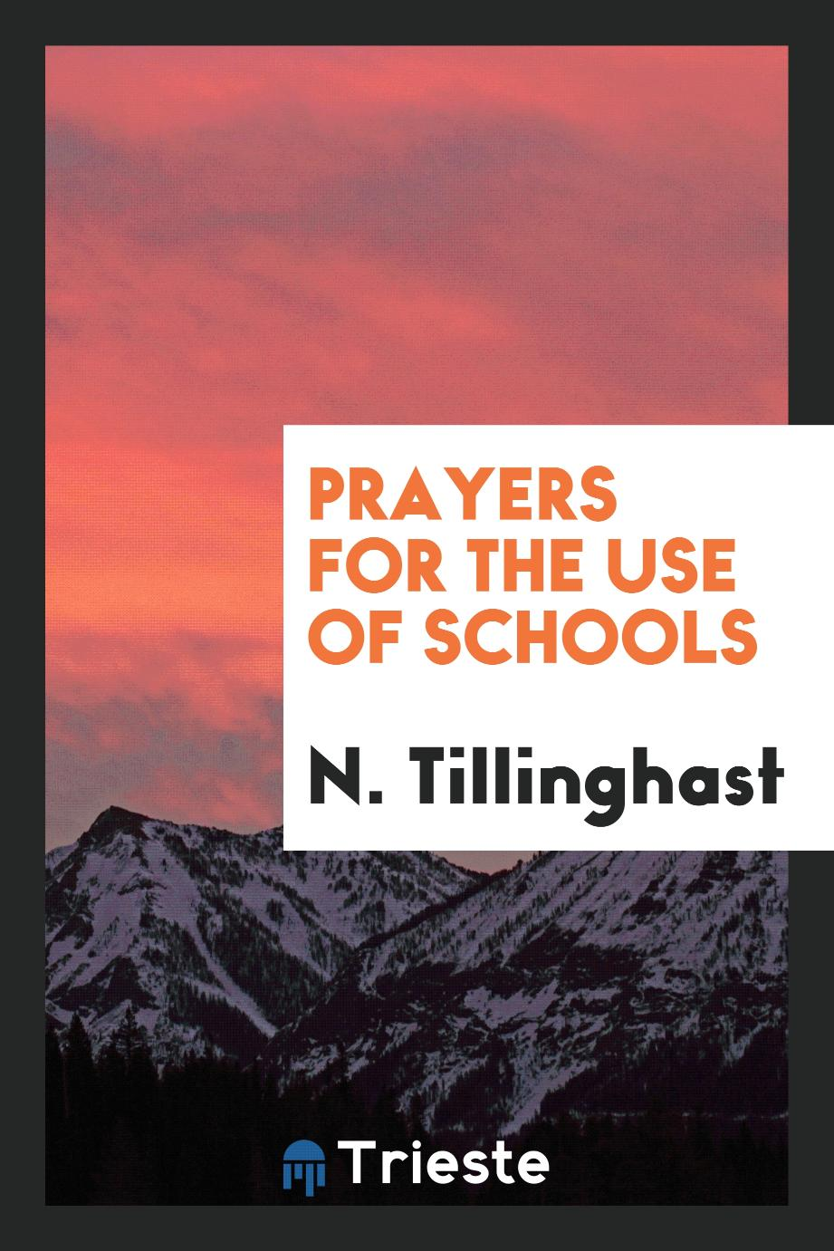 Prayers for the Use of Schools