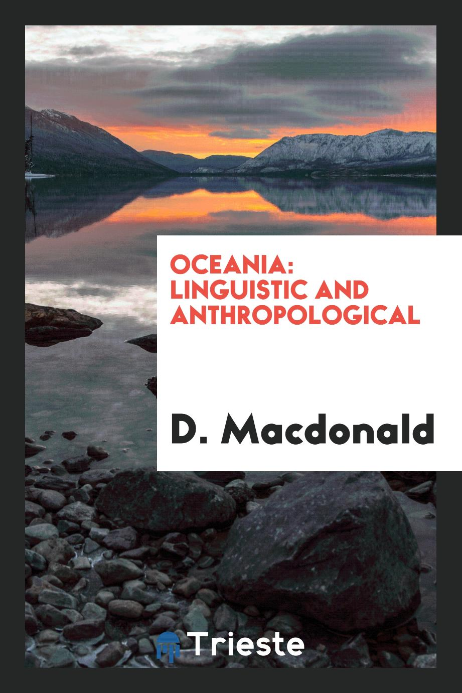 Oceania: Linguistic and Anthropological