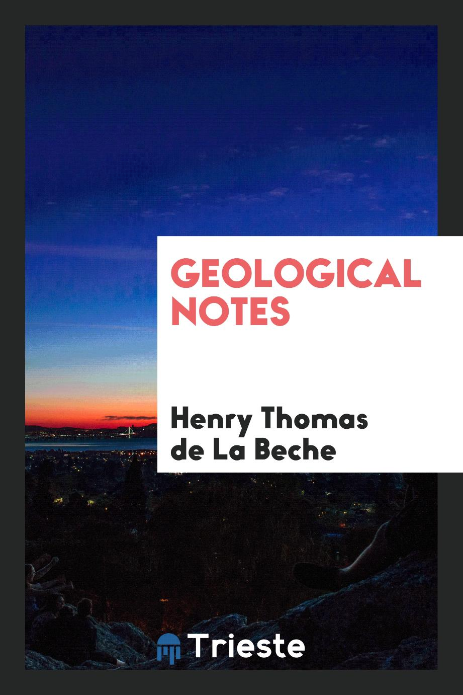 Geological Notes