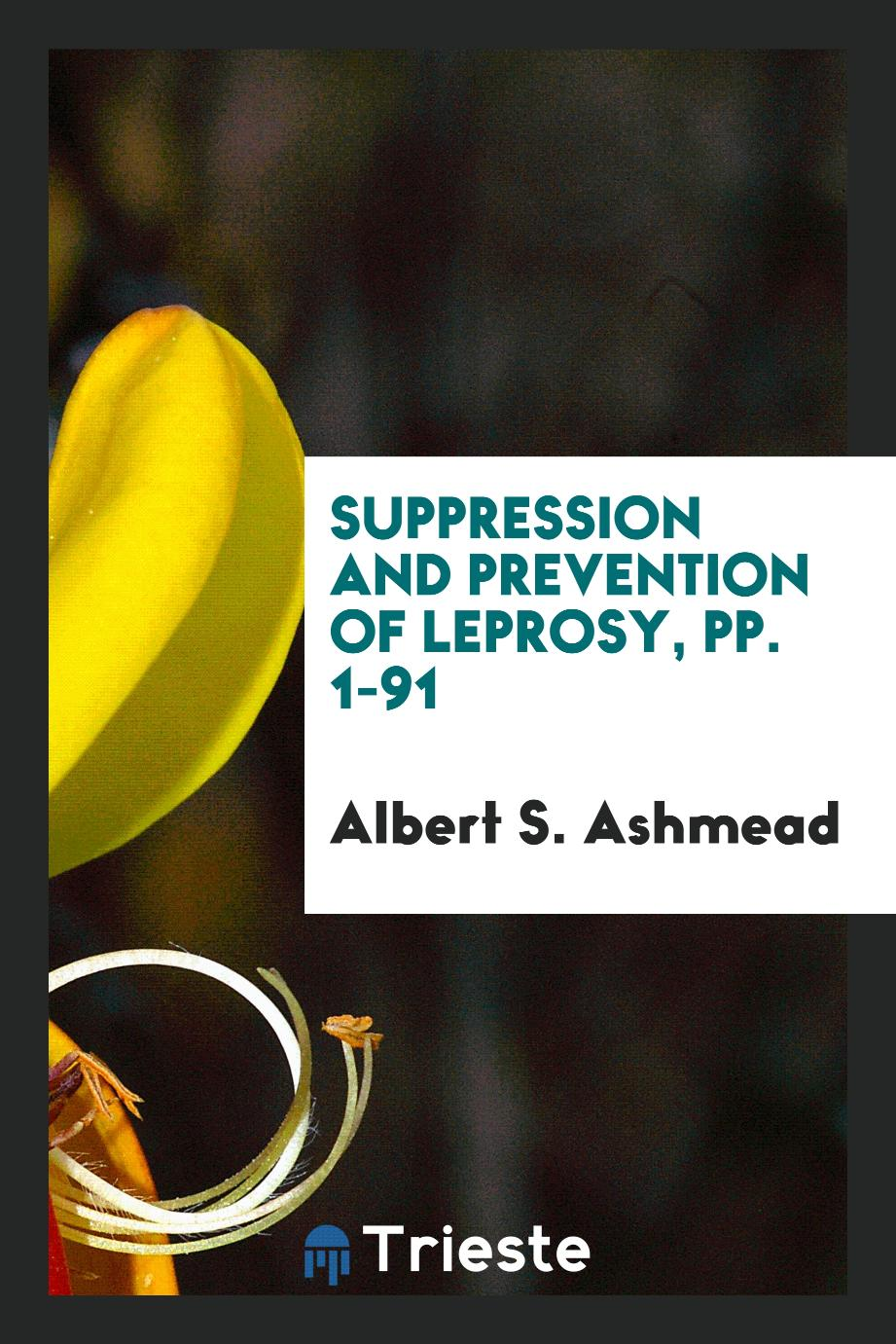 Suppression and Prevention of Leprosy, pp. 1-91