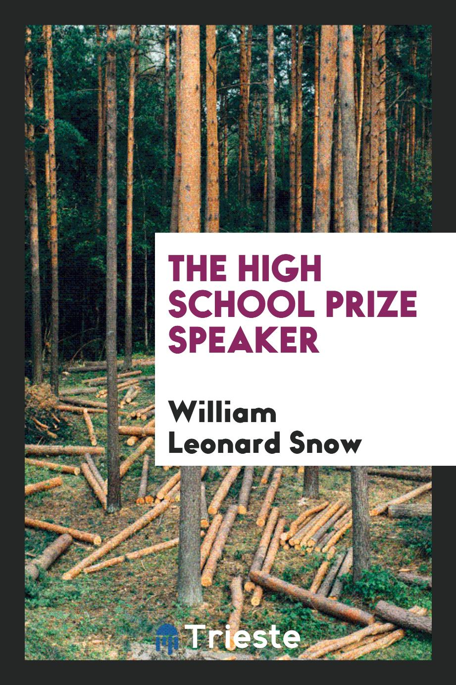 The high school prize speaker