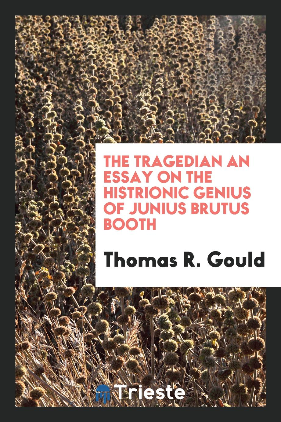 The tragedian an essay on the histrionic genius of Junius Brutus Booth