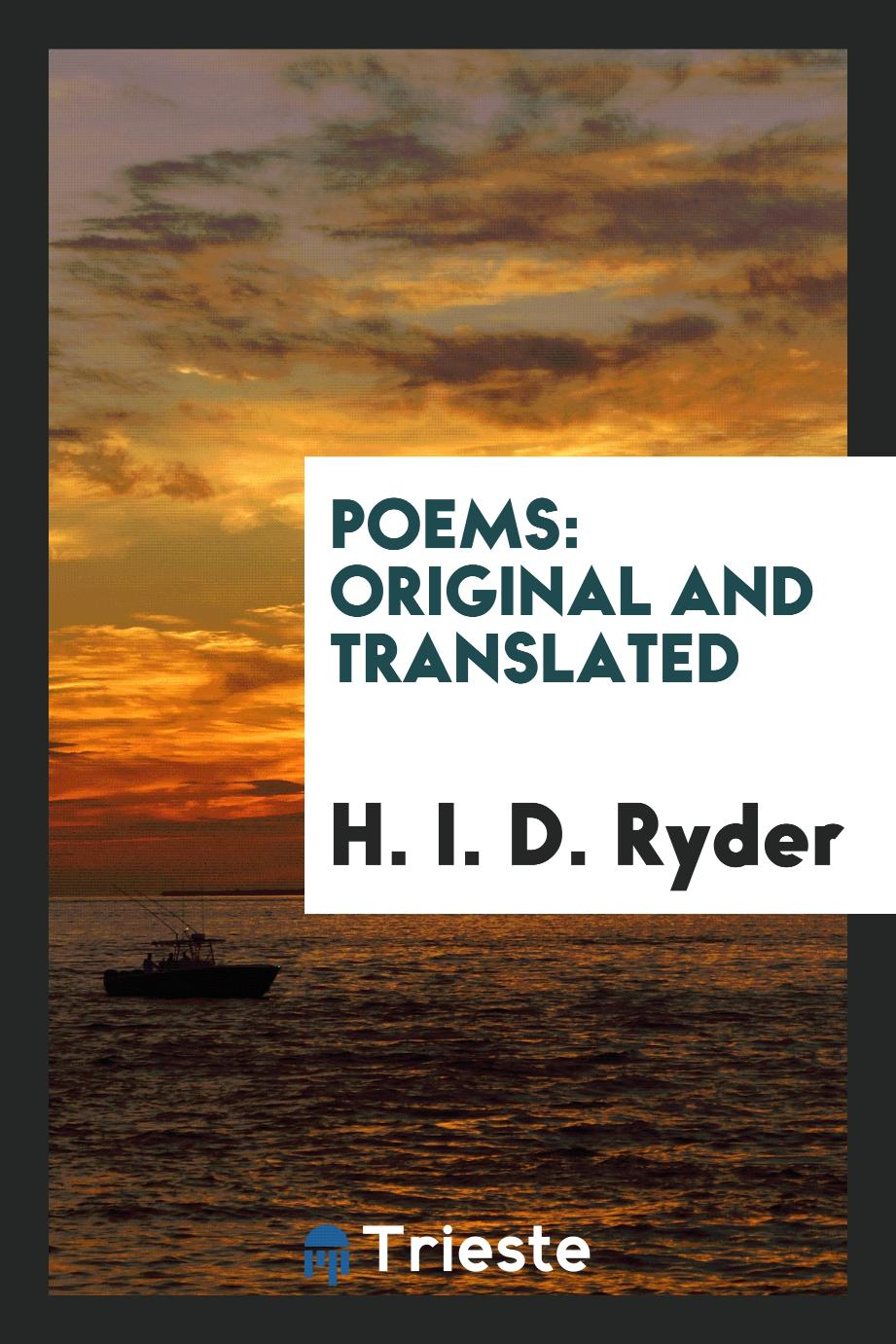 Poems: original and translated