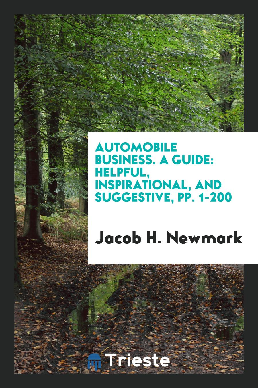 Automobile Business. A Guide: Helpful, Inspirational, and Suggestive, pp. 1-200