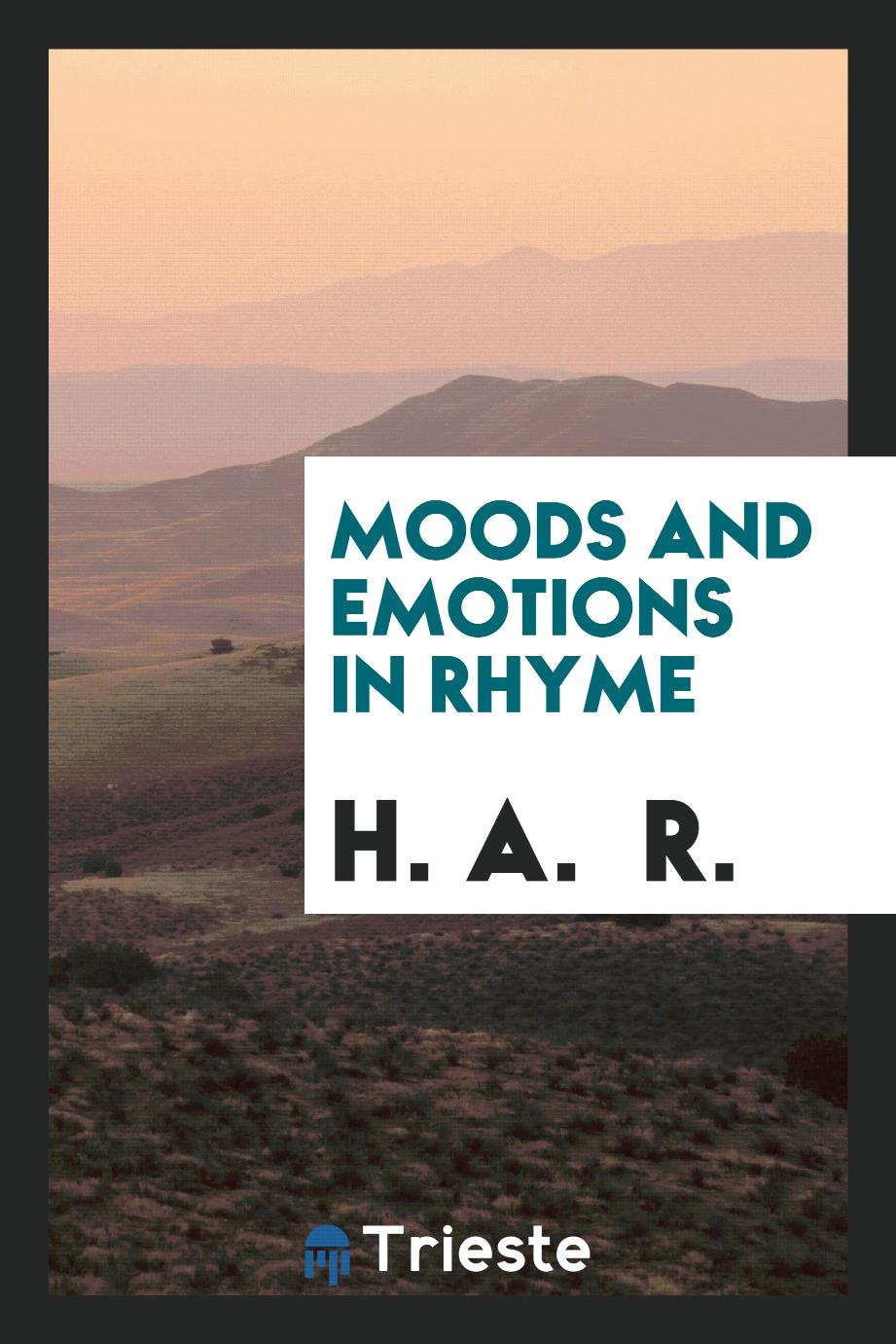 Moods and emotions in rhyme