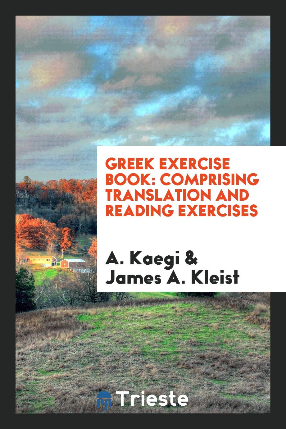 Greek Exercise Book: Comprising Translation and Reading Exercises