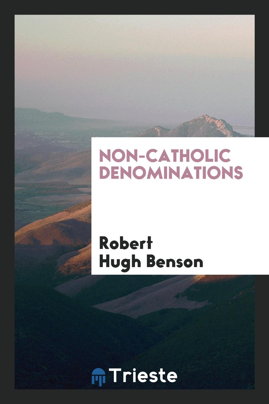 Non-Catholic denominations