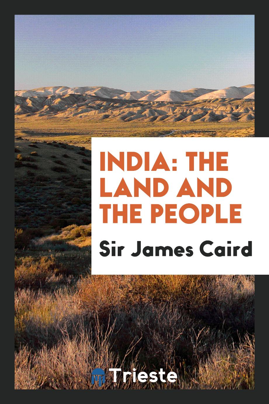 India: The Land and the People
