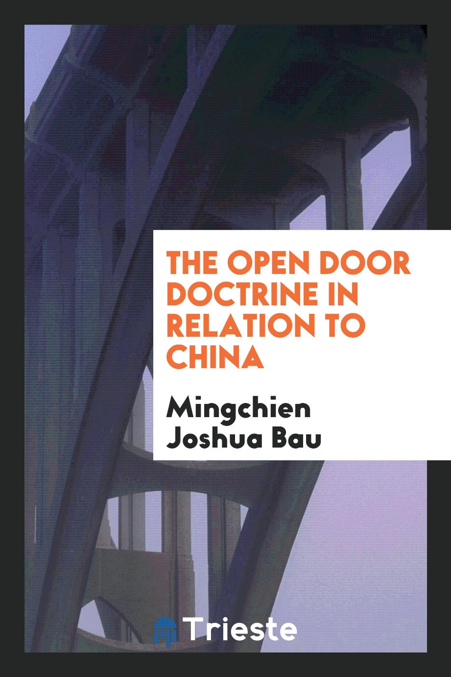 The open door doctrine in relation to China