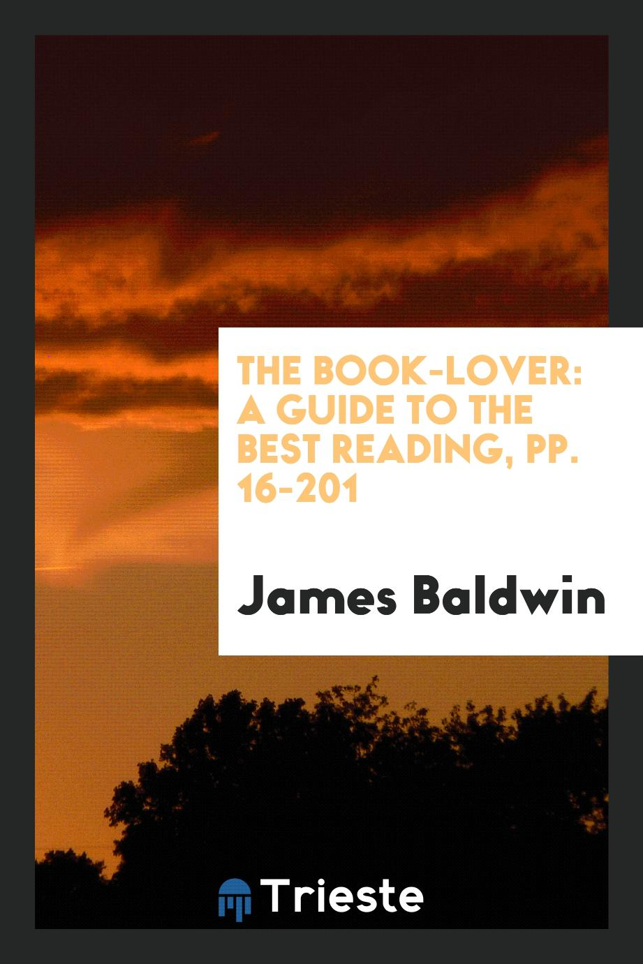 The Book-Lover: A Guide to the Best Reading, pp. 16-201