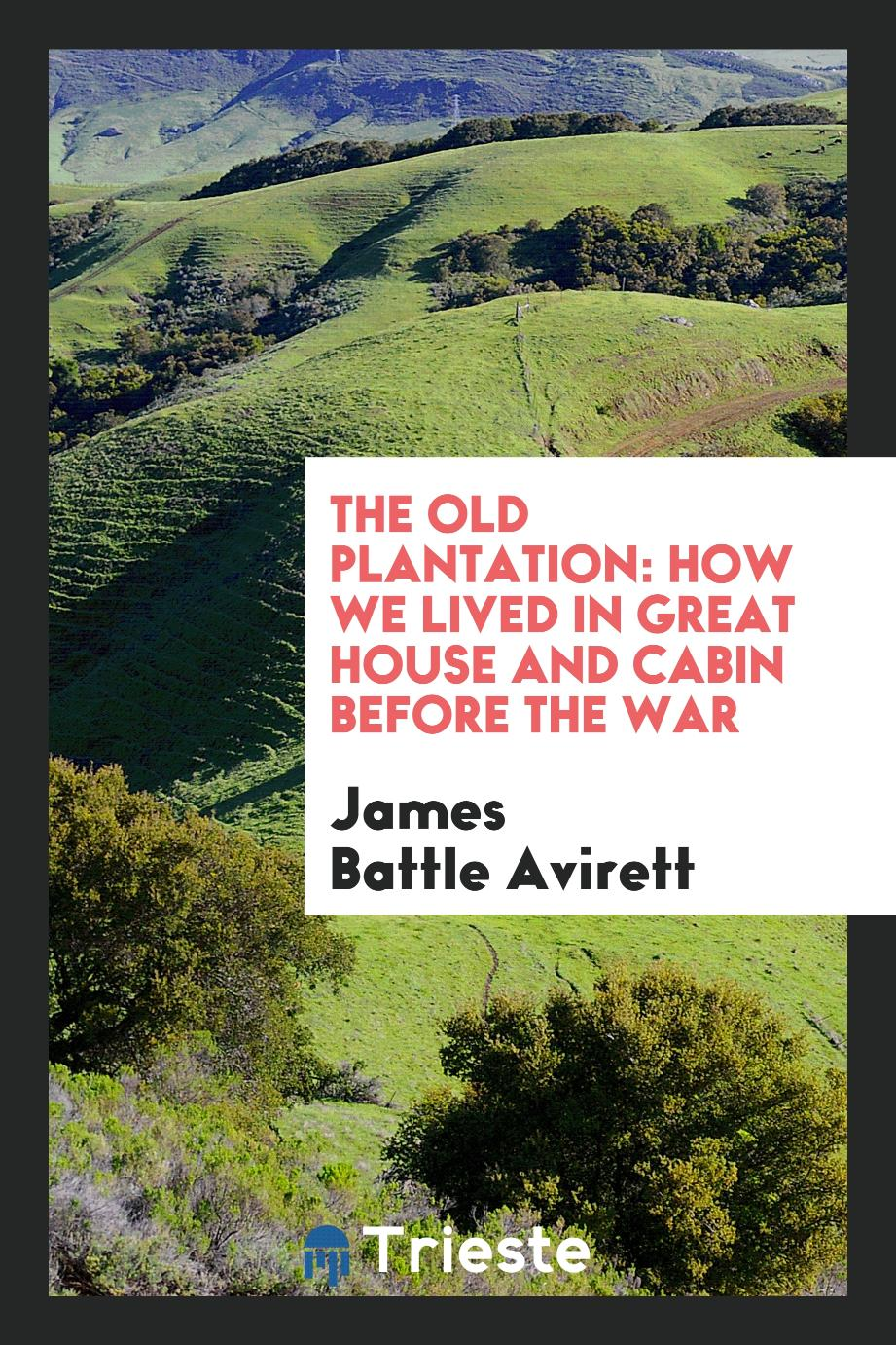 The old plantation: how we lived in great house and cabin before the war