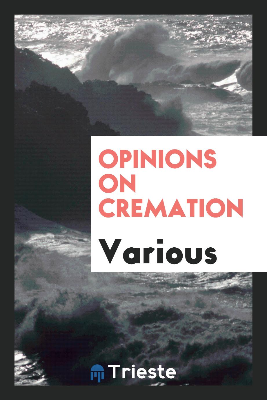 Various - Opinions on Cremation