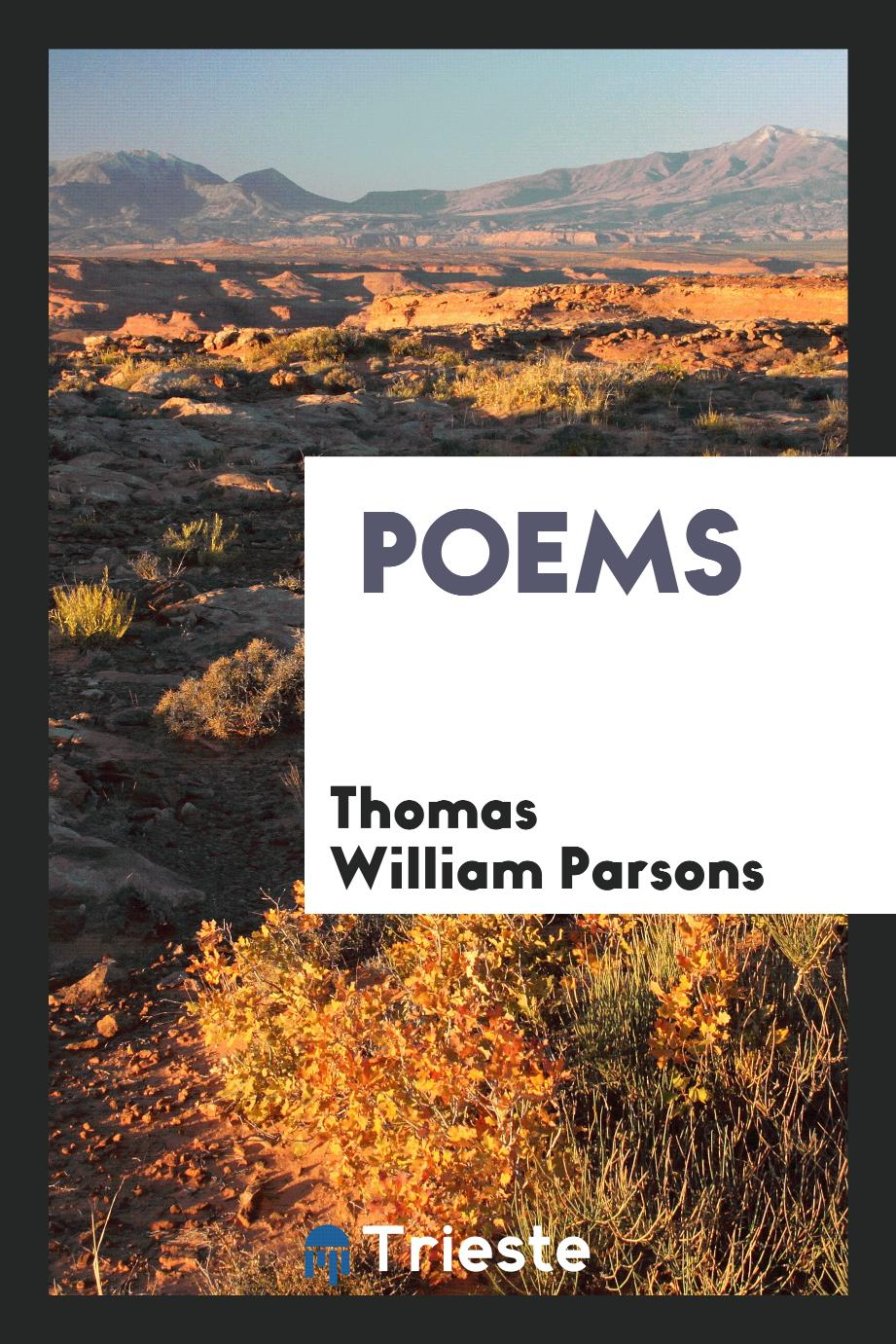 Thomas William Parsons - Poems