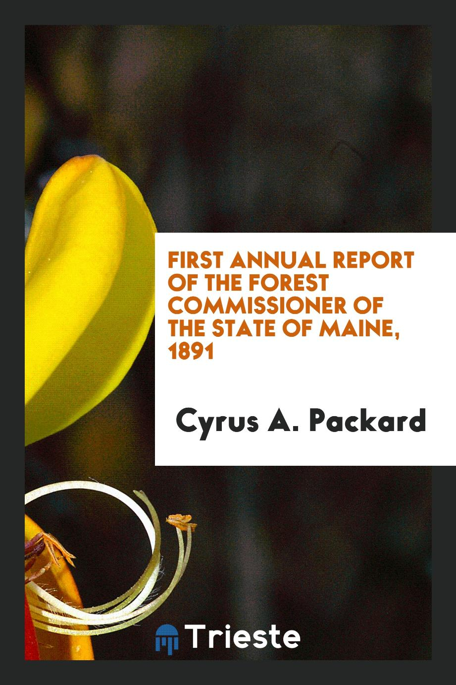 First Annual report of the Forest Commissioner of the state of Maine, 1891