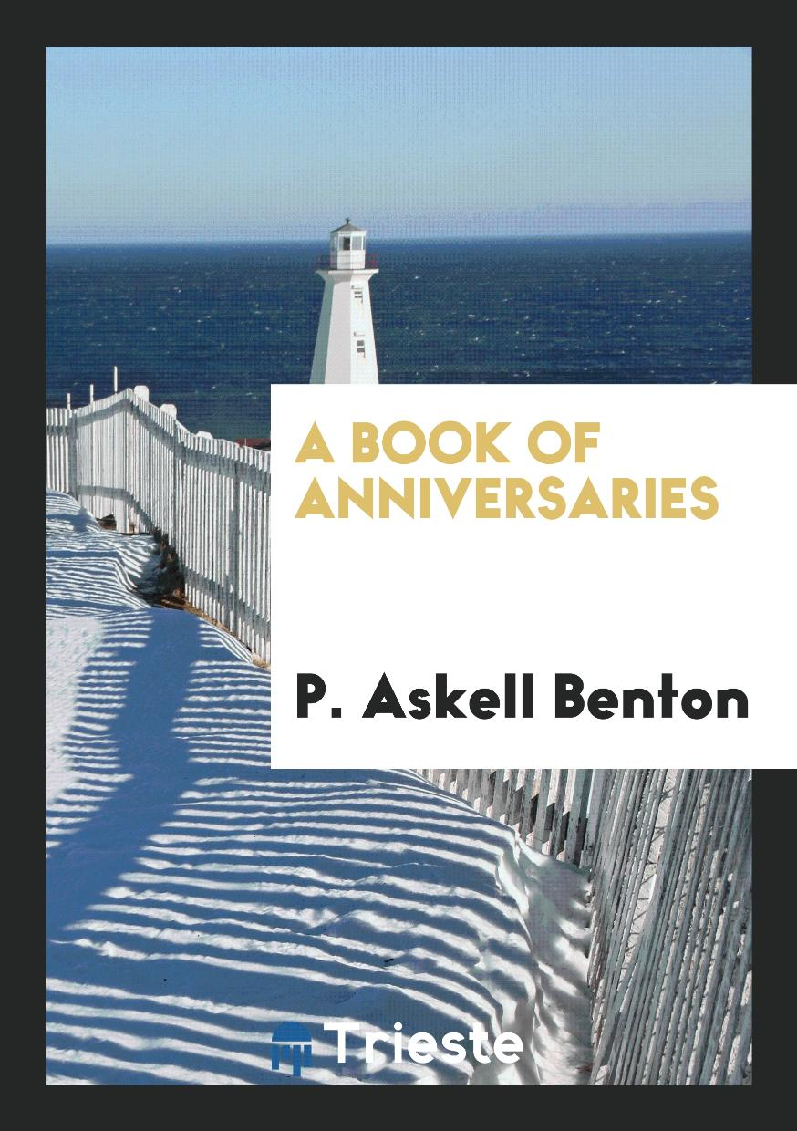 A Book of Anniversaries