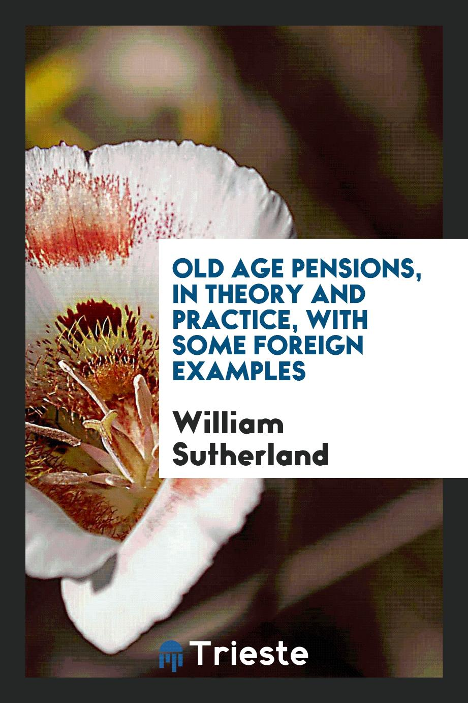 William Sutherland - Old age pensions, in theory and practice, with some foreign examples