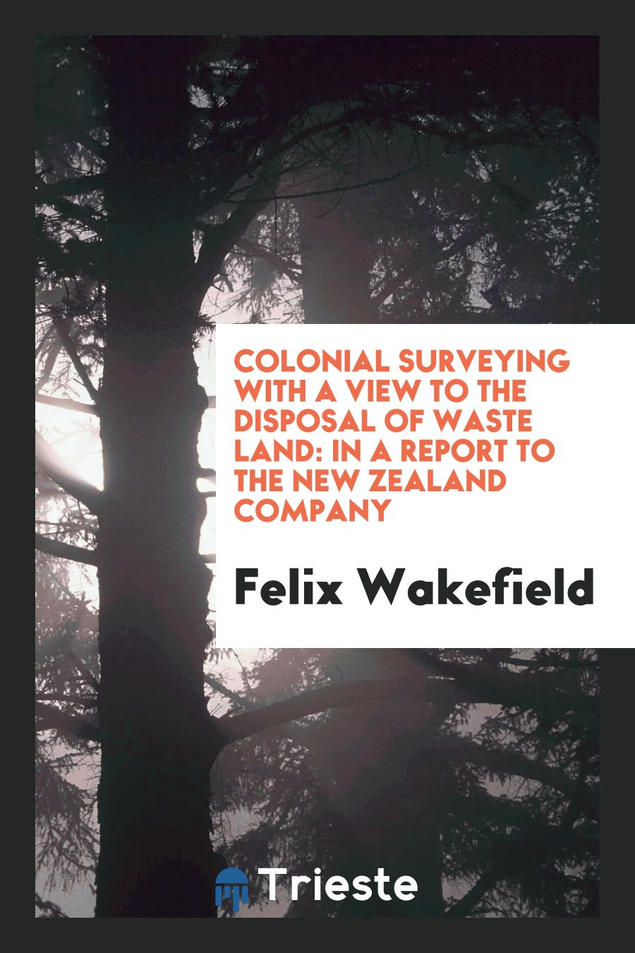 Colonial Surveying with a View to the Disposal of Waste Land: In a Report to the New Zealand Company