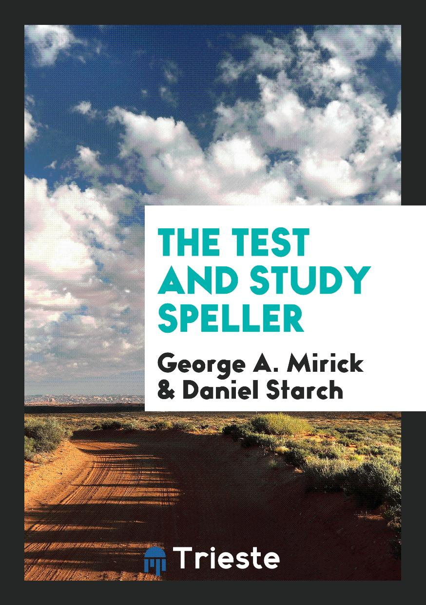The Test and Study Speller
