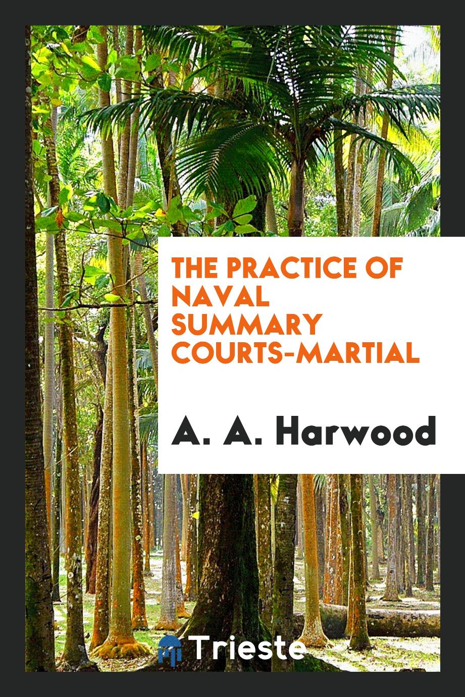 The Practice of Naval Summary Courts-martial
