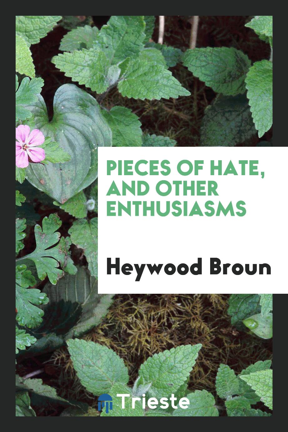 Pieces of hate, and other enthusiasms