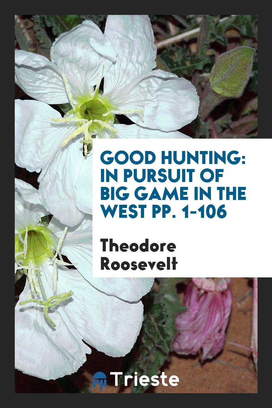 Good Hunting: In Pursuit of Big Game in the West pp. 1-106