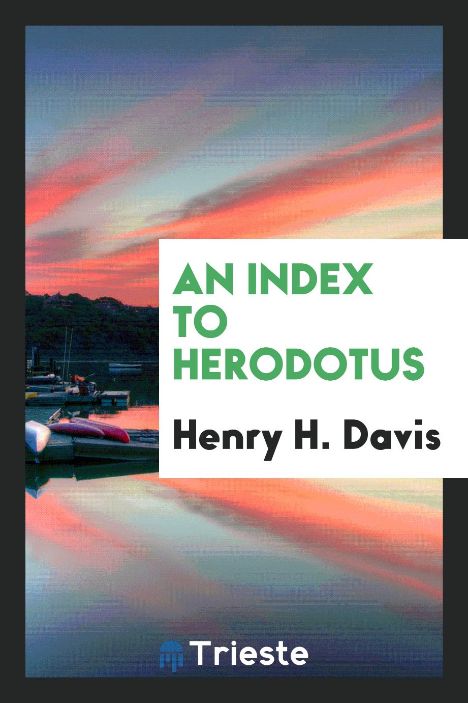 An Index to Herodotus