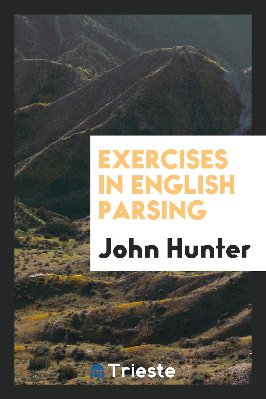 Exercises in English parsing