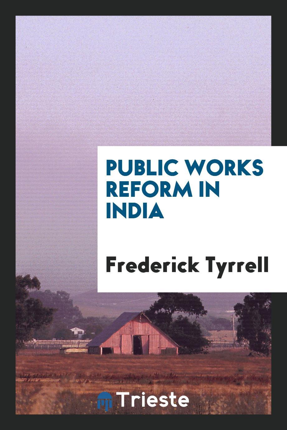 Public works reform in India