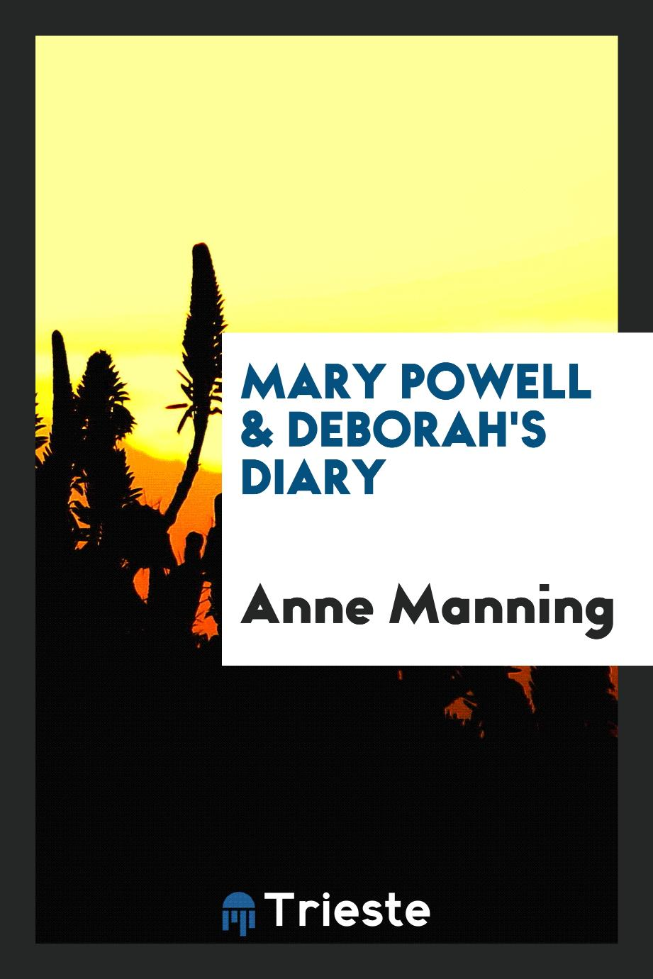 Mary Powell & Deborah's diary