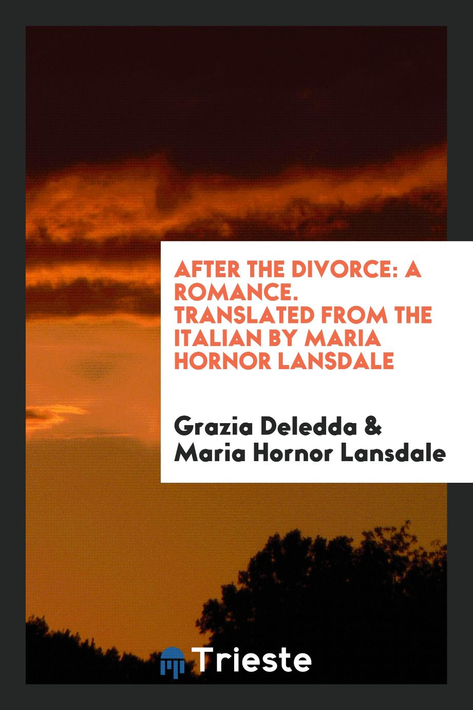 After the Divorce: A Romance. Translated from the Italian by Maria Hornor Lansdale