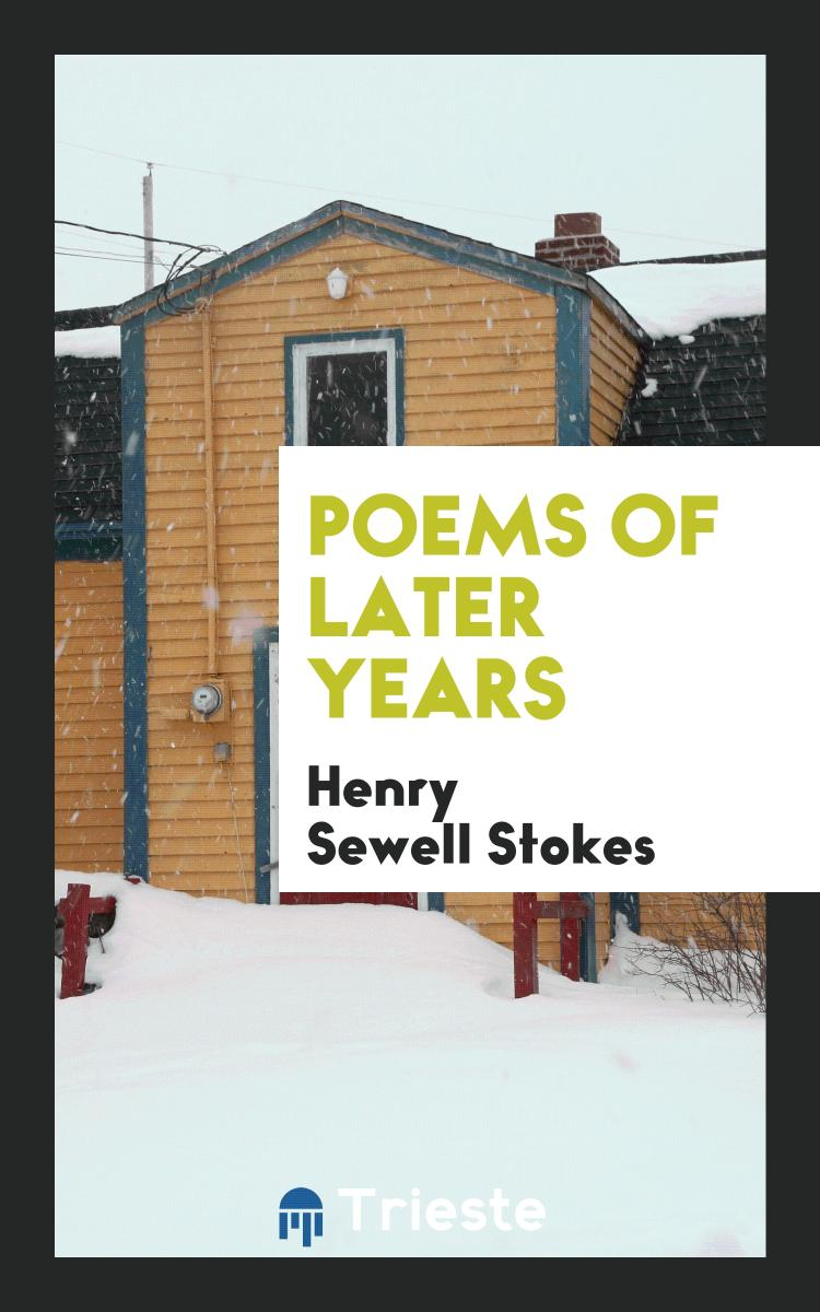 Poems of Later Years