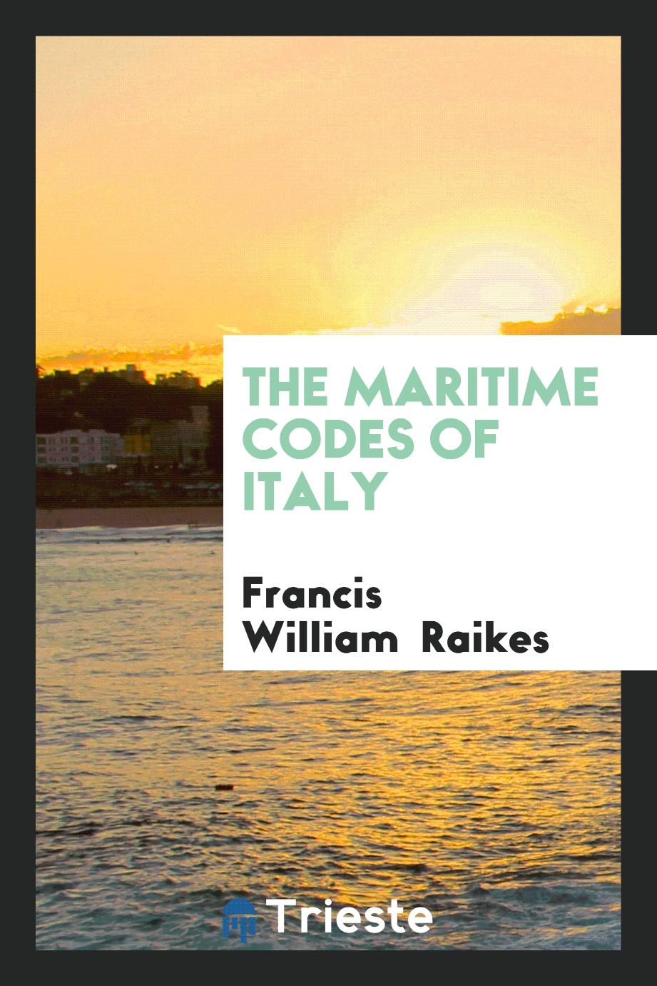 The Maritime Codes of Italy