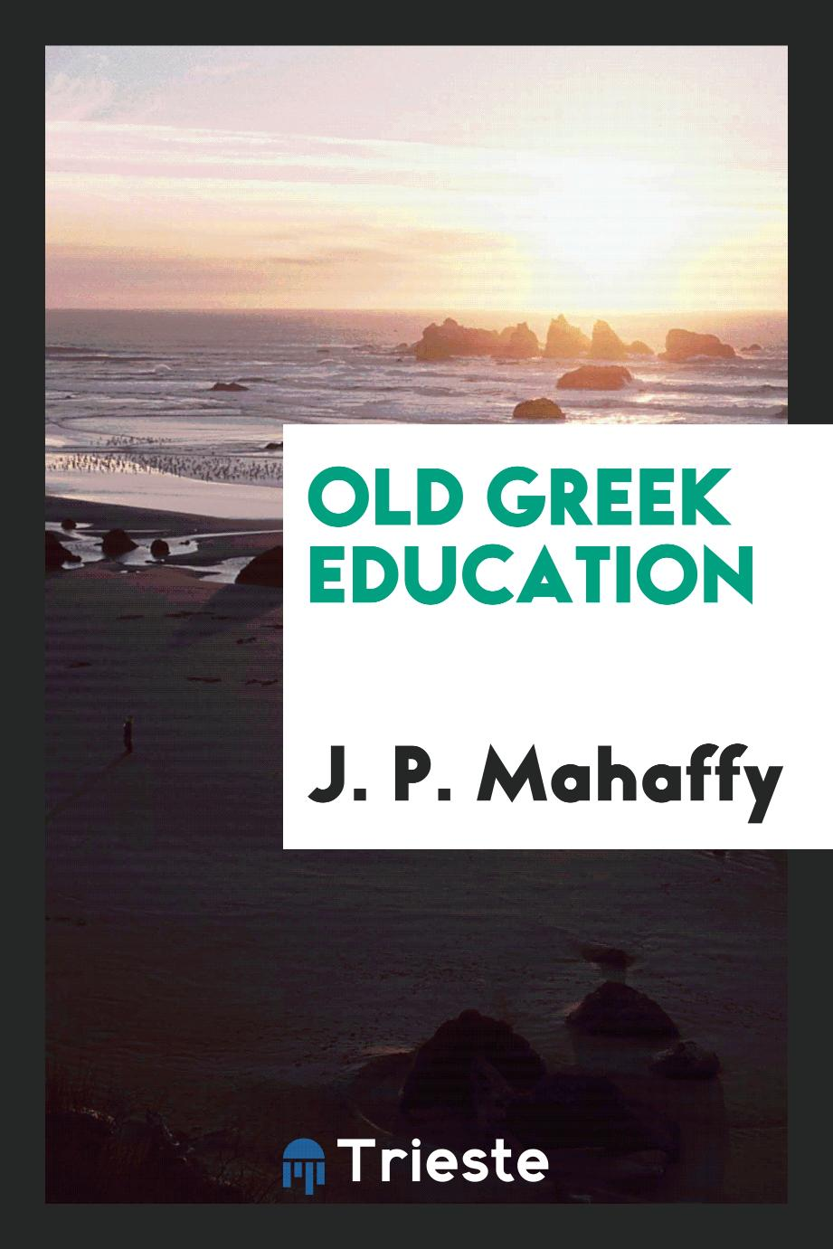 Old Greek education