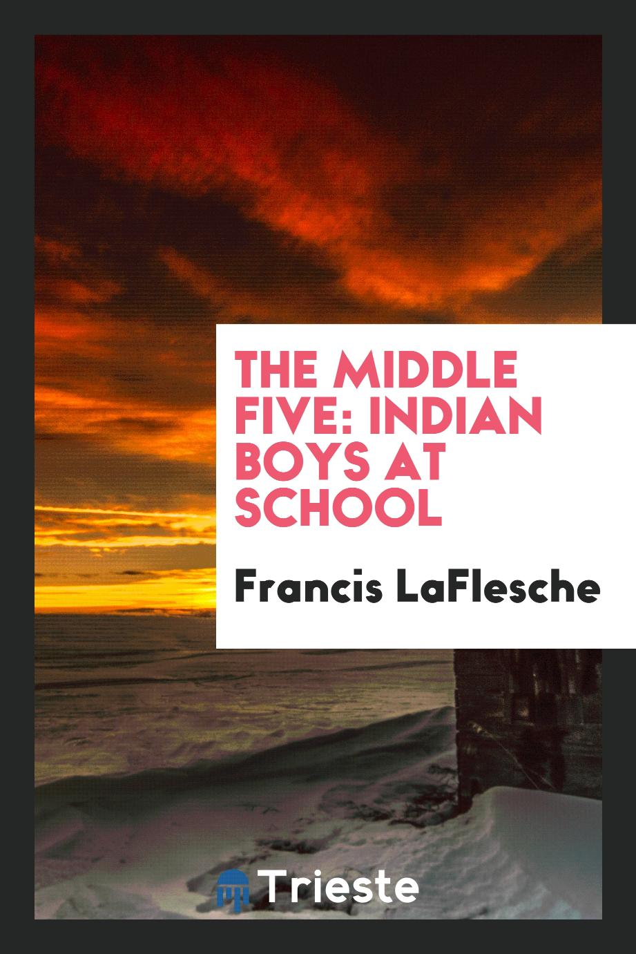 The middle five: Indian boys at school