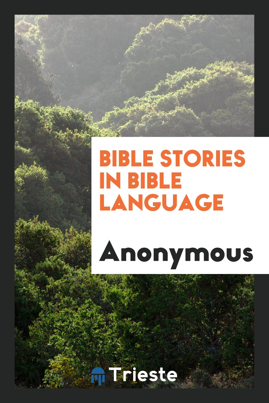 Anonymous - Bible Stories in Bible Language